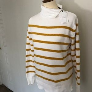NWT English Factory Nordstrom Gold White Sweater